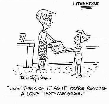 Well, that's one way of looking at it! ~ via Charlotte Mecklenburg Library