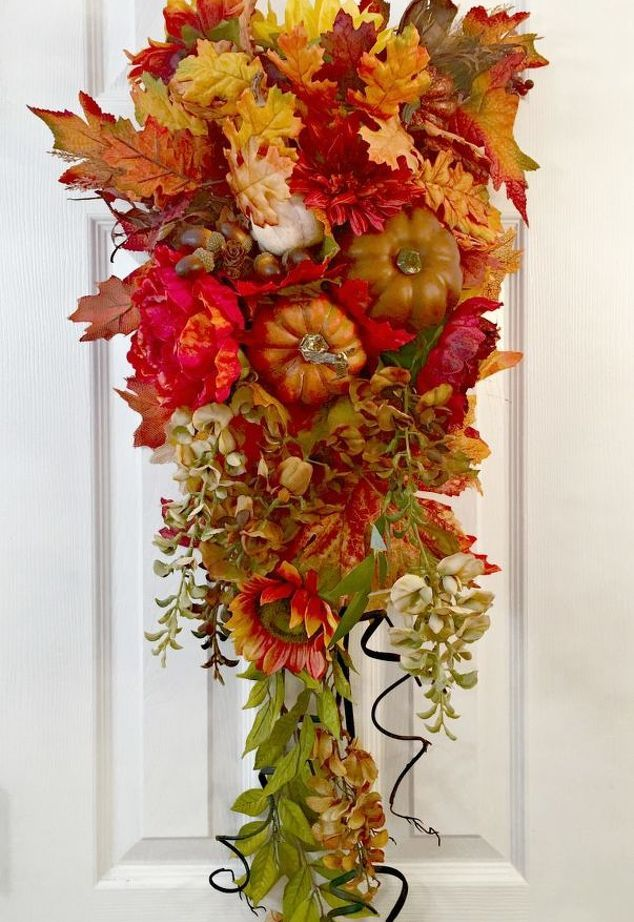 luxurious fall swag for your front door | Fall ideas ...