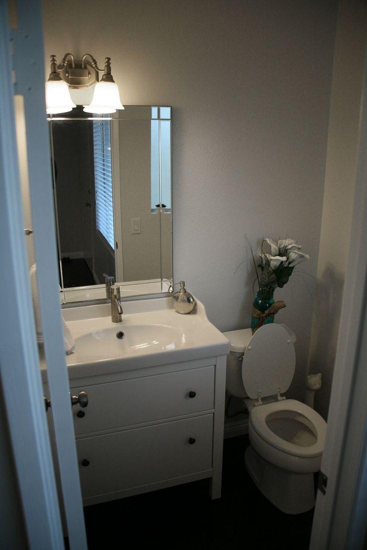 Bathroom ceiling paint flat or semi gloss - Dark Floors Kitchen Bathroom Ikea Vanity And Faucet Hemnes Rattviken Ikea Dalskar Faucet