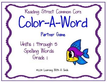 Reading Street Common Core Supplemental Resource For Grade 1 Color A Word Partner
