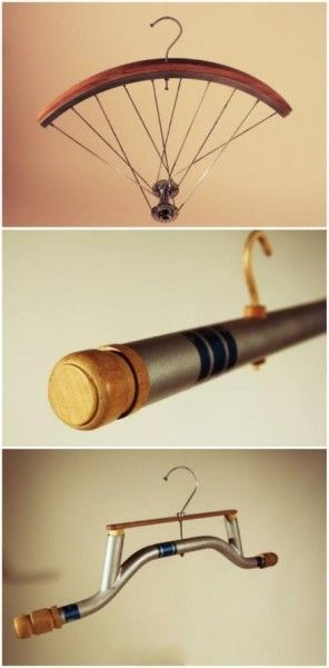 Hanger designed by Oliver Staiano with upcycled bicycle parts !