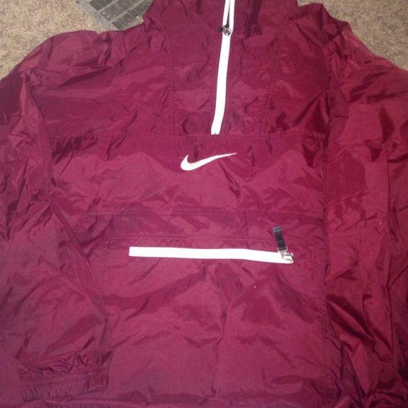 Nike Windbreaker Windbreaker zip down collar with zip pouch pocket on stomach men's medium Crimson red Nike Jackets & Coats