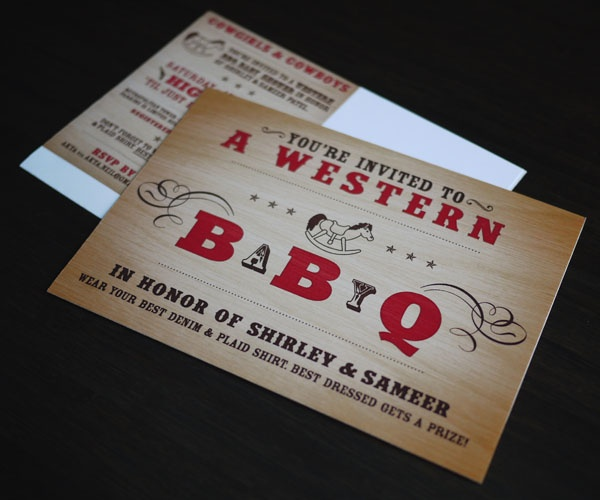 Design With Chon: Design w/Chon: BBQ Baby Shower Invitation