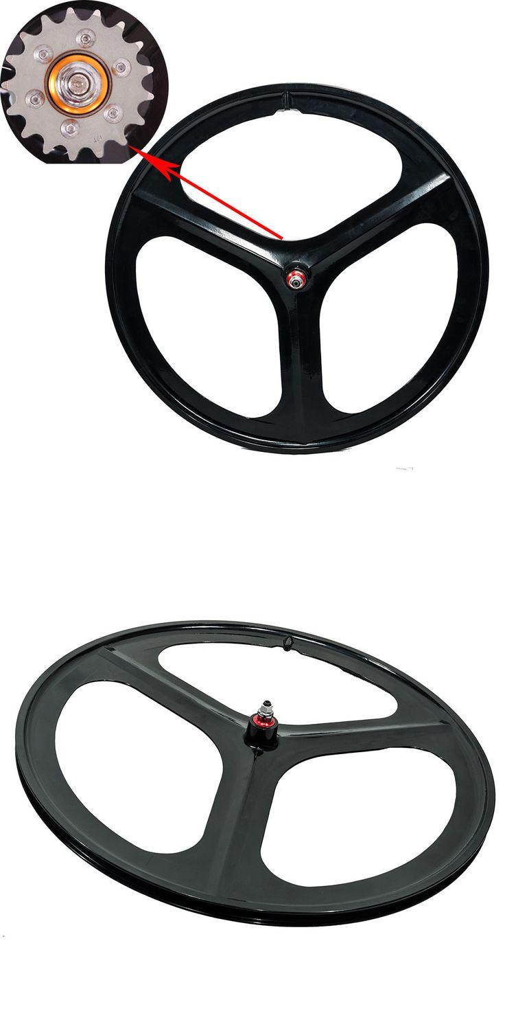 Wheels and Wheelsets 177830: 700C Tri Spoke Fixie Fixed Gear Single Speed Bike Rear Mag Wheel Rim ( Black ) -> BUY IT NOW ONLY: $126.89 on eBay!