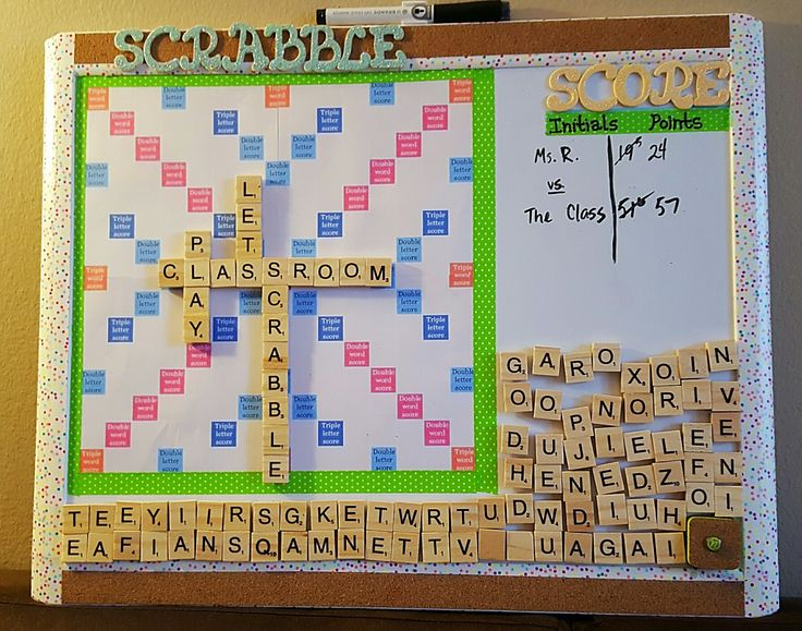 Magnetic Scrabble Board For The Classroom I Made It From