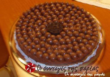 Τούρτα με κρέμα σοκολάτα και maltesers #sintagespareas