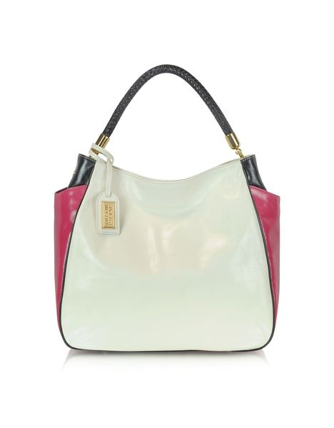 Jasmine Block Leather Shoulder Bag by Badgley Mischka