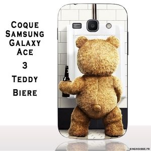 Coque Samsung Galaxy Ace 3 Teddy Biere. #Coque #Samsung #galaxy #Ace #3 #Case #Cover #telephone #portable #teddy #ourson #fun #biere