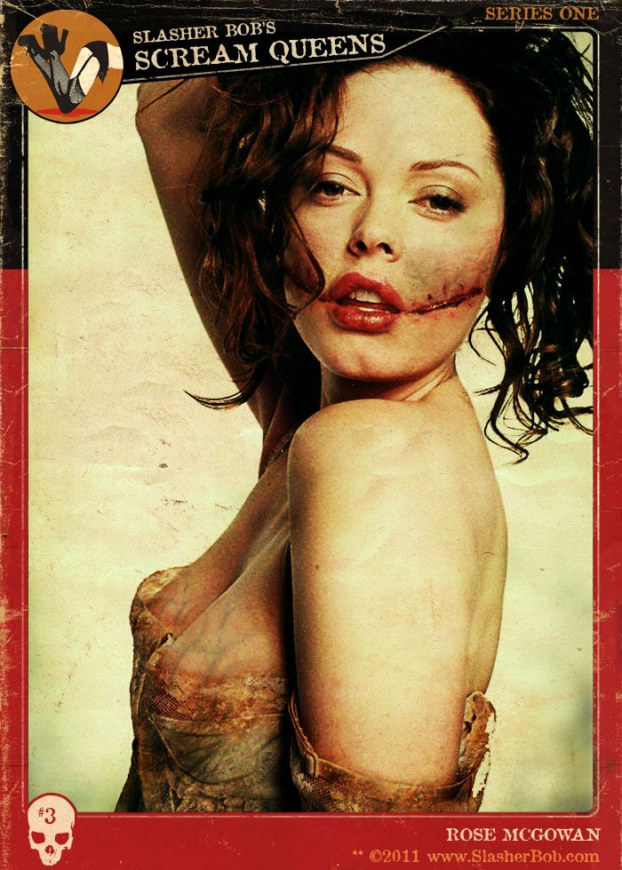 Rose McGowan | Slasher Bob's Scream Queens trading cards by Mental Shed Studios - http://www.thementalshed.com