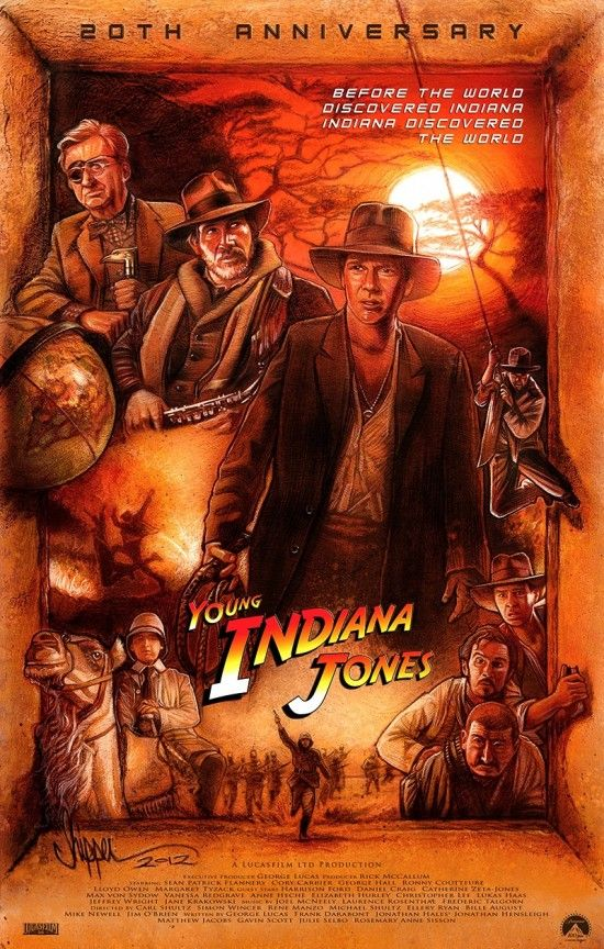 The Young Indiana Jones: Movie Posters, Paul Shipper, Jones 20Th, Illustration, Indiana Jones, 20Th Anniversary