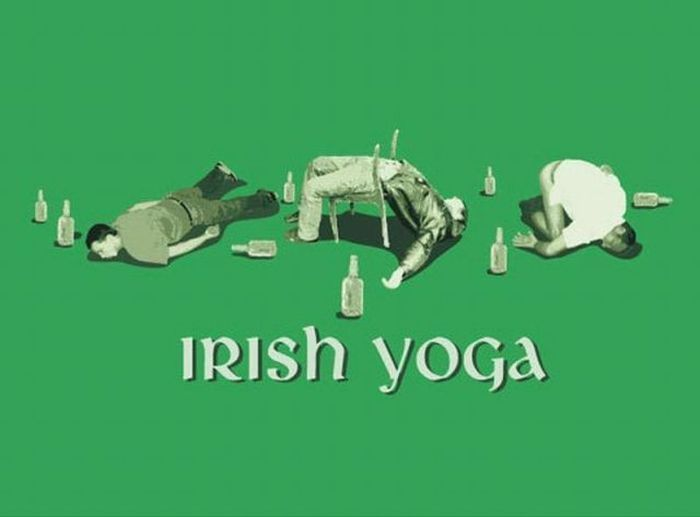 Irish Yoga: Funny Funny, Funny Things, Drinks Funny, Irishyoga, Fun Stuff, Funny Stuff, Irish Yogaaft, Happy St., St. Patrick'S