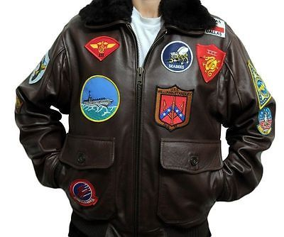 Tom-cruise-top-gun-black-fur-real-cowhide-leather-men-fighter-jet-pilot-jacket