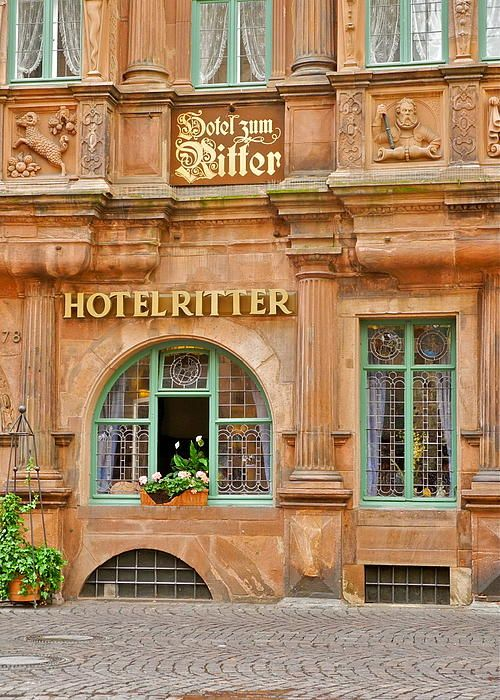 Hotel Ritter in Heidelberg, Germany. Photo by Kirsten Giving.