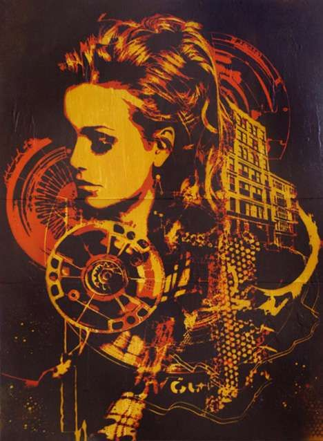 David Soukup 'In The Moment' is Stencil Art at its Finest #design trendhunter.com