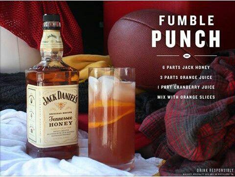 Jack Daniels Tennessee Honey Fumble Punch