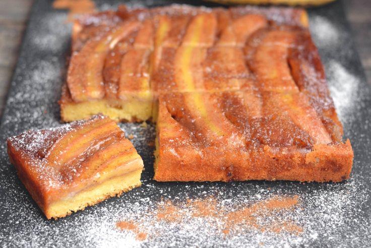 Fordított banános karamelles süti recept