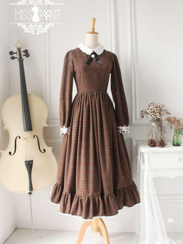 classic wool plaid dress $105 #asianicandy #cosplay #vintage #handmade