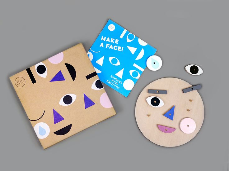 Make A Face - Turn & flip the wooden face pieces to express your emotion! A wonderful way to learn about & discuss emotions together.