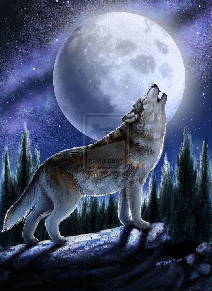 Wolves art howling wolf by smorrisonart digital art - Wolf howling hd ...