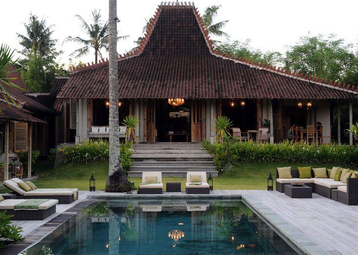 Tropical Javanese joglo villa in bali
