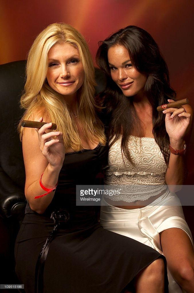Brande Roderick and Stacy Kamano during 8th Anniversary of the Grand Havana Room and the Premiere of James Orr's Documentaries on the Fuente Family - Gallery Portraits at The Grand Havana Room in Beverly Hills, California, United States.
