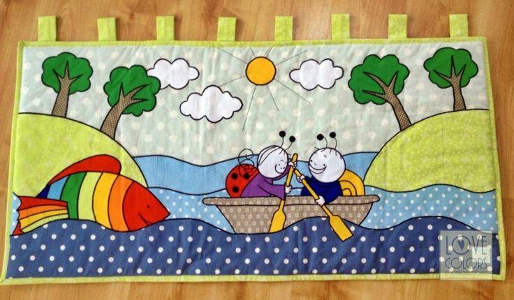 Love Colors by Julianna Rencés Kovács bogyó és babóca falvédő - falikép