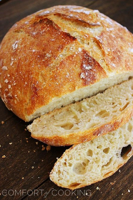 No-Knead Crusty Artisan Bread – My most reader-loved recipe! This crusty, fluffy artisan bread needs only 4 ingredients and 5 minutes. | thecomfortofcooking.com