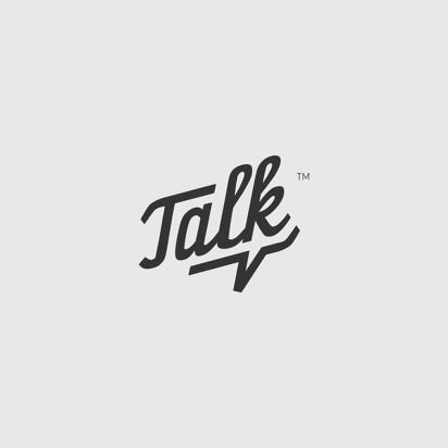Talk by Haus #logo // Since advice is given with words, I like the idea of doing a design concept with just type.