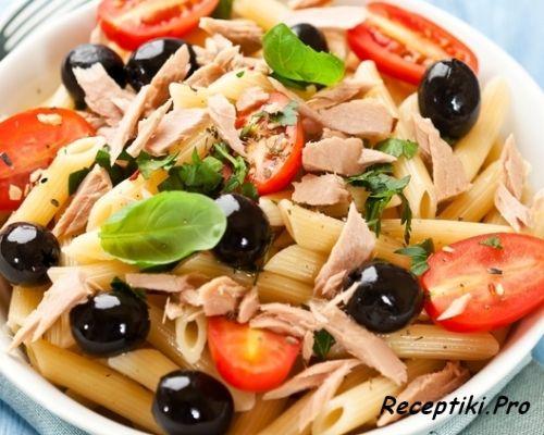Итальянская кухня - паста с тунцом