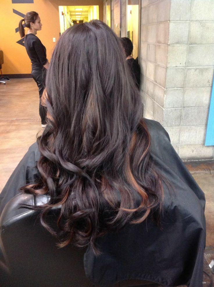 Brown Hair With Blonde Peekaboo Highlights Traffic Club