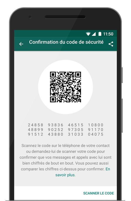 Le chiffrement de bout en bout - La confidentialité et sécurité font partie de notre ADN, c'est pour cela que nous avons intégré le chiffrement de bout en bout dans les dernières versions de notre application. Lorsqu'ils sont chiffrés de bout en bout, vos messages, photos, vidéos, messages vocaux, documents, mises à jour de statut et appels sont protégés pour ne pas tomber entre de mauvaises mains.  Apprenez-en plus sur le Statut WhatsApp sur : Android | iPhone | Windows Phone Le chif...