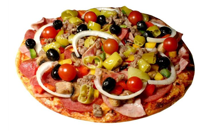 Vegetables and fruit pizza HD Wallpaper