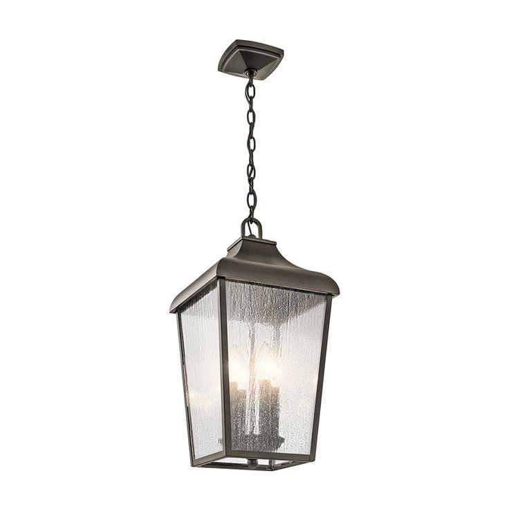 Kichler Lighting Forestdale 19.75 In Olde Bronze Outdoor Pendant Light  49740Oz