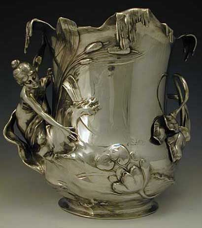 WMF Pewter Champagne Bucket. Germany, ca. 1906.