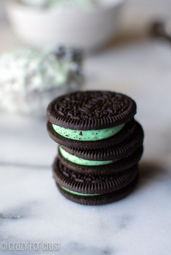 Cookies 'n Mint Ice Cream by crazyforcrust.com   The perfect ice cream for summer...no ice cream machine needed!