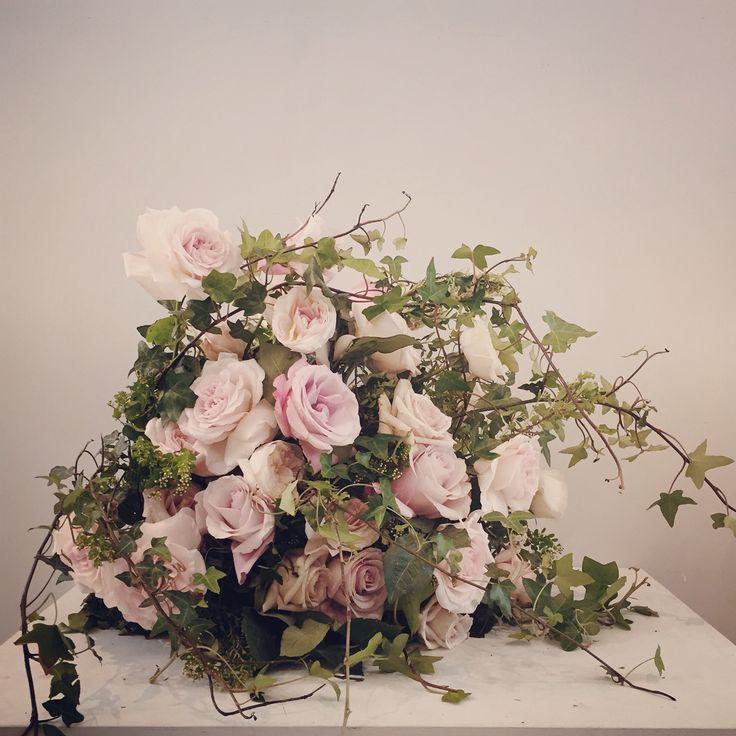 Arrangement of garden roses.  Catherine Muller Flower School in London and Paris
