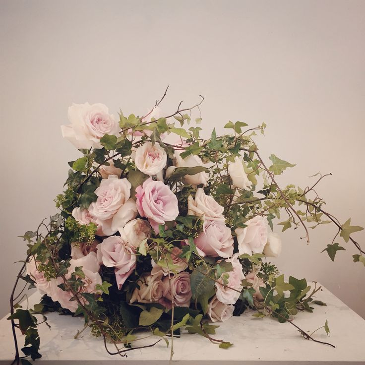 Arrangement of garden roses.  Catherine Muller Flower School in London and Paris