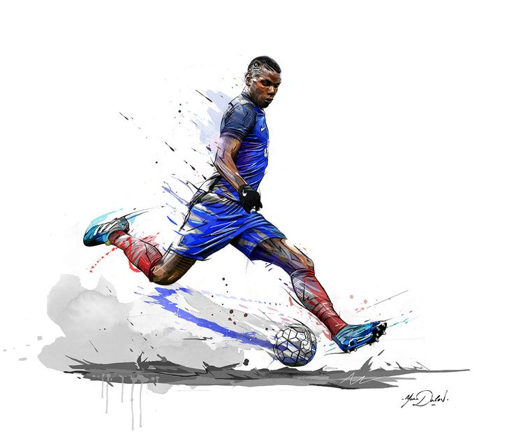 Two illustrations of Paul Pogba,superstar of french soccer team for ESPN Magazine.