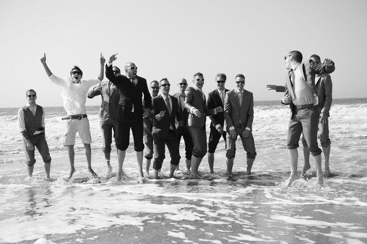Boys will be boys#beach wedding