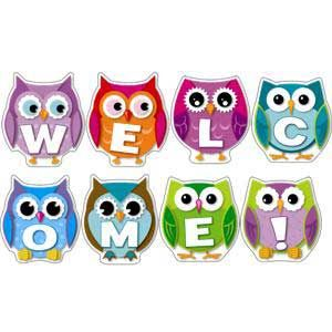 owl classroom theme | colorful owl welcome bulletin board shop by theme owls