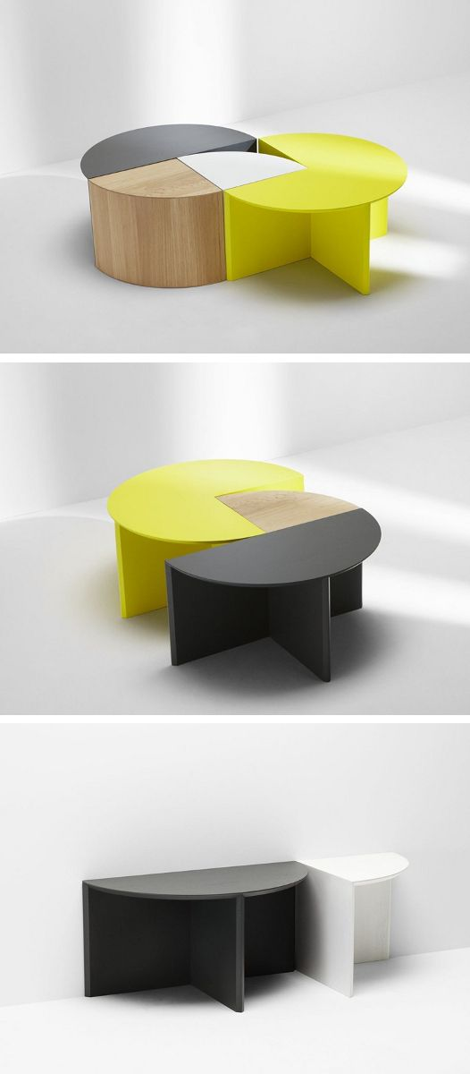 Modular Coffee Table PIE CHART SYSTEM
