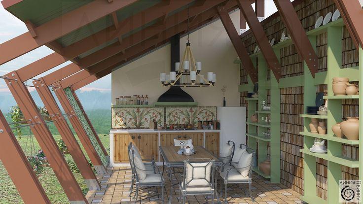 Летняя кухня в беседке (Линия 8)