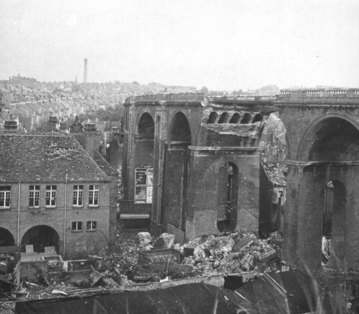Bomb damage. London Rd