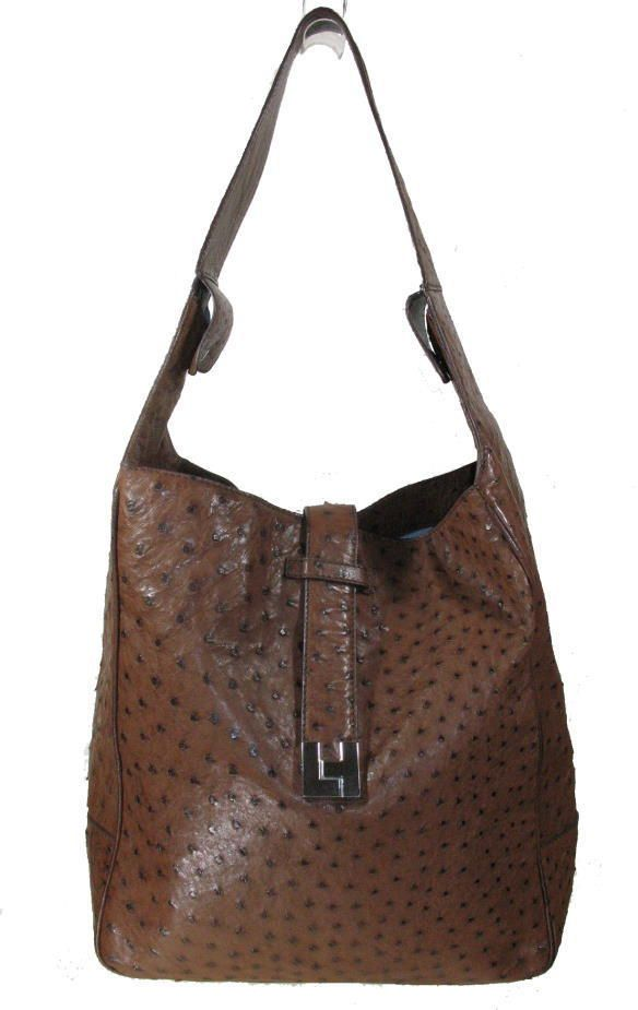 d3173ac58f7 Lambertson truex large unisex ostrich leather bag, excellent   bags    Pinterest   Unisex, Bag and eBay