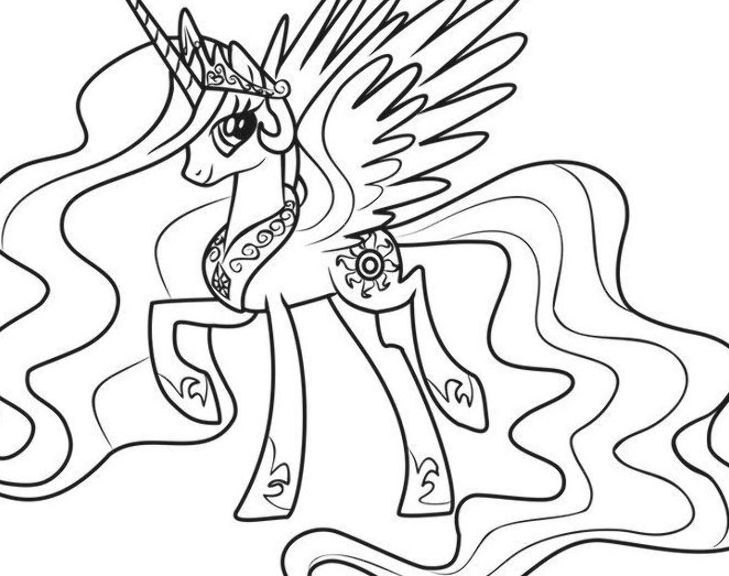 Princess Celestia Coloring Page Free My Little Pony Friendship Is Magic Coloring Pages Cel My Little Pony Coloring Princess Celestia My Little Pony Friendship