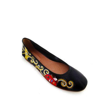 Scarpe ballerine dipinte a mano - L'albero della vita di Klimt