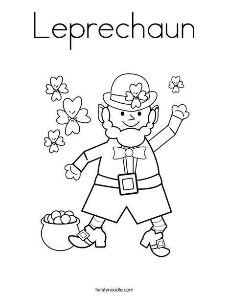 151 best leprechaun coloring pages images on Pinterest