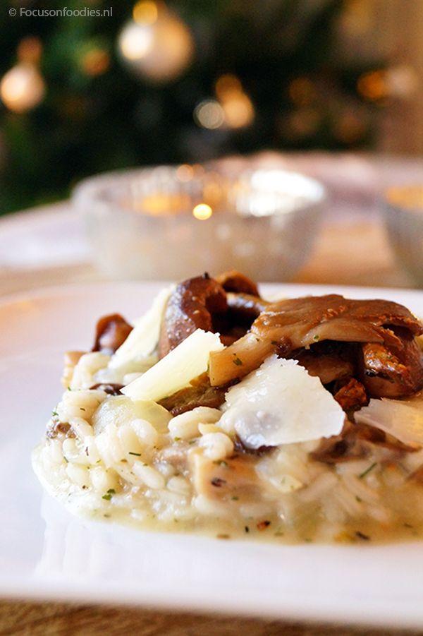 Risotto met paddenstoelen en pecorino (glutenvrij, koemelkvrij, suikervrij)