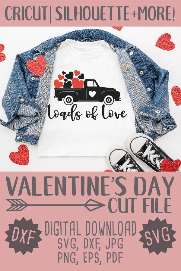 Download Loads of love svg   Valentines vintage Truck svg   Cricut ...