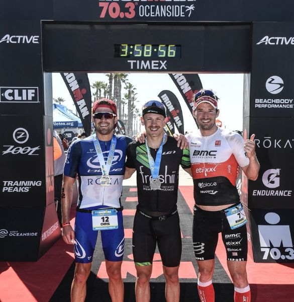 Lionel Sanders successfully defends Ironman 70.3 Oceanside title